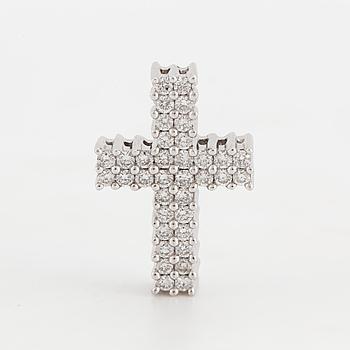HÄNGE i form av ett kors med briljantslipade diamanter, totalt ca 0,50 ct.