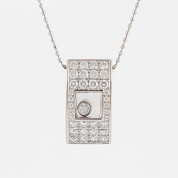 "CHOPARD, collier, ""Happy diamonds"" med briljantslipade diamanter totalt ca 0,58 ct."