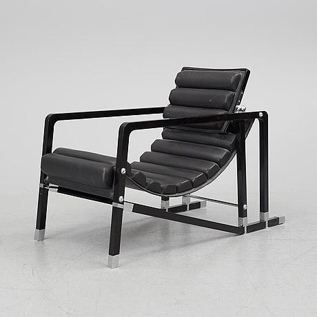 Eileen gray, transat lounge chair by ecart international, 1980s.
