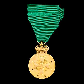 The Swedish VASA MEDAL, 18ct/23ct gold, 1974.