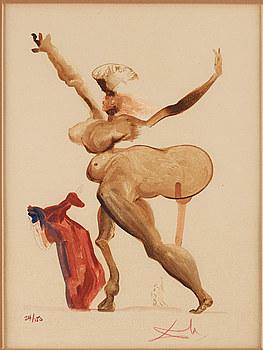SALVADOR DALÍ, litografi, ur Divine Comedy, signerad o numrerad 24/150.