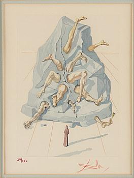 SALVADOR DALÍ, litografi ur Divine Comedy, signerad o numrerad 24/150.