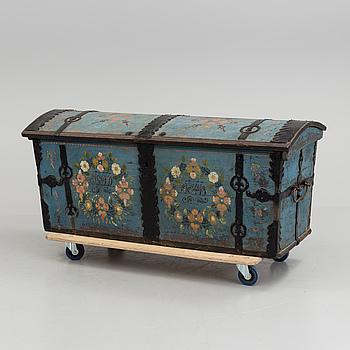 An 18 th century swedish folklore coffin.