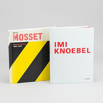 BOK, 2 st, IMI KNOEBEL, Works 1966-2006. OLIVIER MOSSET, arbeiten/works 1966-2003.