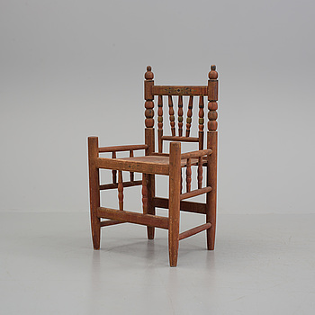 A late 19th century folks armchair.