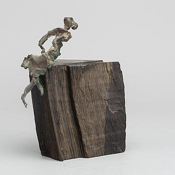 CLAES HAKE, skulptur, brons, signerad.