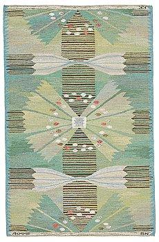 "186. Barbro Nilsson, A CARPET, ""Park, grön"", flat weave, ca 165 x 104,5 cm, signed AB MMF BN KK."