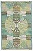 "Barbro nilsson, a carpet, ""park, grön"", flat weave, ca 165 x 104,5 cm, signed ab mmf bn kk."