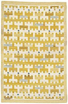 "202. Ann-Mari Lindbom, gift Forsberg, A CARPET, ""Gulbroka"", flat weave, ca 210,5 x 134,5 cm, signed AB MMF AMF."