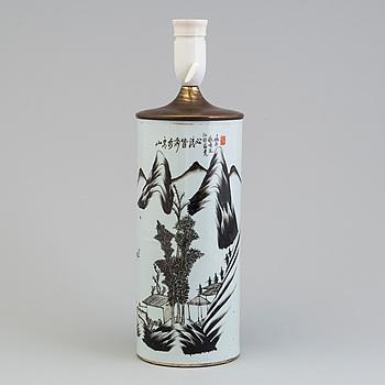 BORDSLAMPA, porslin, Kina, tidigt 1900-tal.