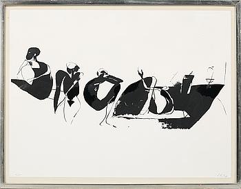 LAGE LINDELL, serigrafi, signerad och numrerad 8/50.