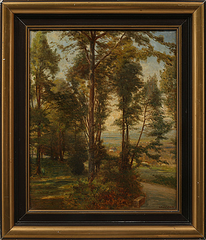 LOUIS LEROY, LOUIS LEROY, oil on canvas, signed.