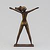"""Stig blomberg, skulptur, brons, """"fritidsflickan""""."""