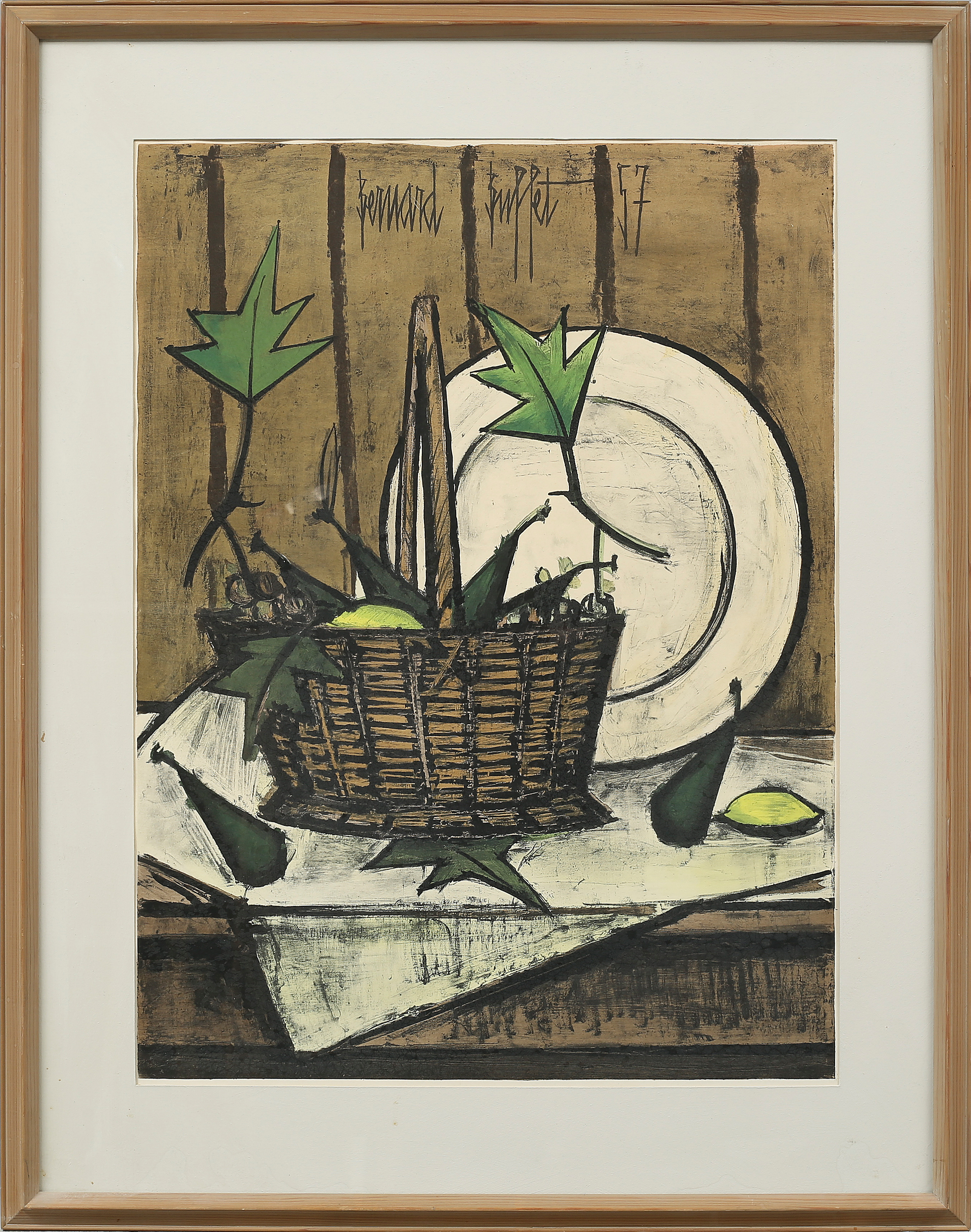 Fantastic Bernard Buffet A Partly Hand Colord Litograph Signed And Download Free Architecture Designs Scobabritishbridgeorg