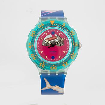 SWATCH, Scuba, Happy Fish, armbandsur, 38,3 mm,