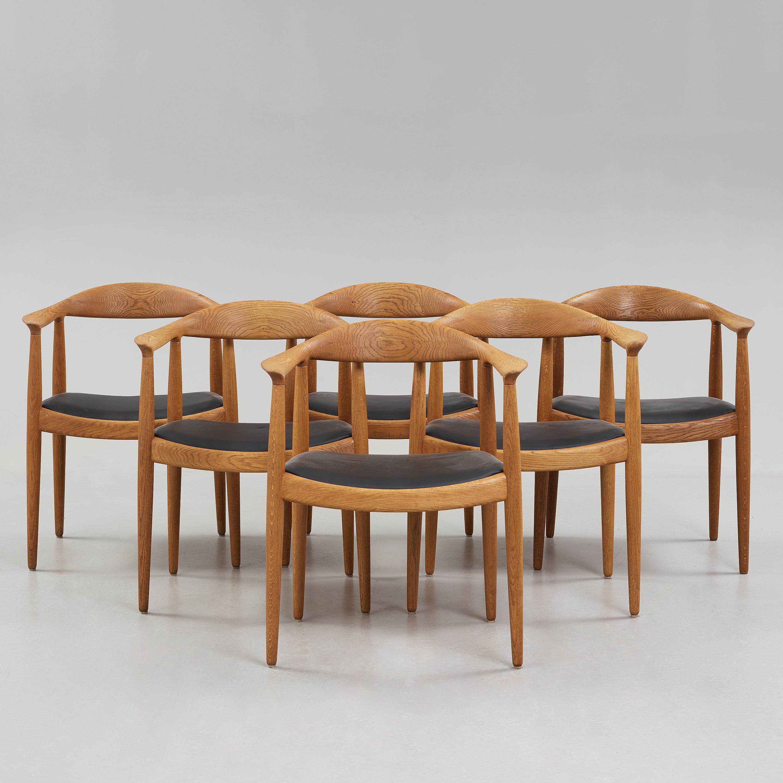 """Hans J Wegner, Stolar, 6 St""""the Chair"""", Johannes Hansen, Köpenhamn Bukowskis"""
