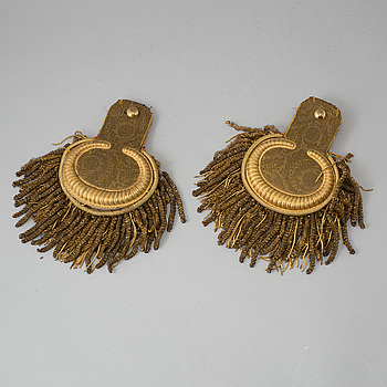 EPÅLETTER, 1 par, 1800-tal.