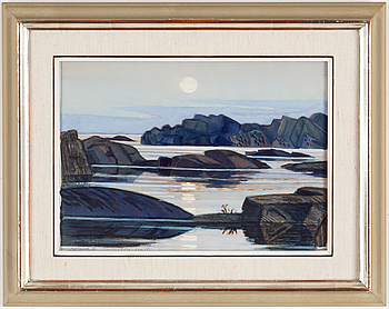 ROLAND SVENSSON, a watercolour, signed and dated 67.
