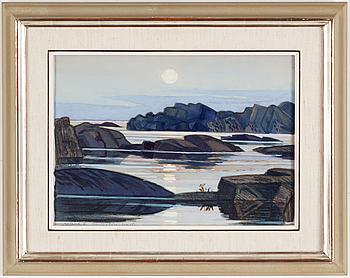 ROLAND SVENSSON, akvarell, signerad och daterad 67.