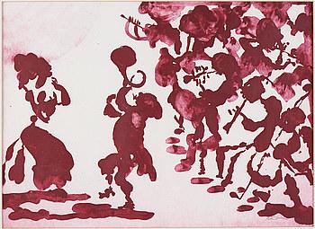 PETER DAHL, färglitografi, signerad med blyerts.