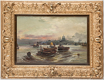 "FRIEDRIKE MEINERT, An oil painting by an unknown artist, signed ""F. Meinerth""."