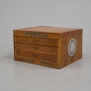 BUTIKSMONTER FÖR TRÅDRULLAR, Chadwick's, 1900-talets mitt.