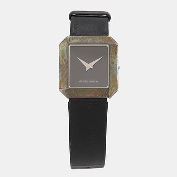 GEORG JENSEN, designad av Allan Scharff, armbandsur, 30 x 32 mm,
