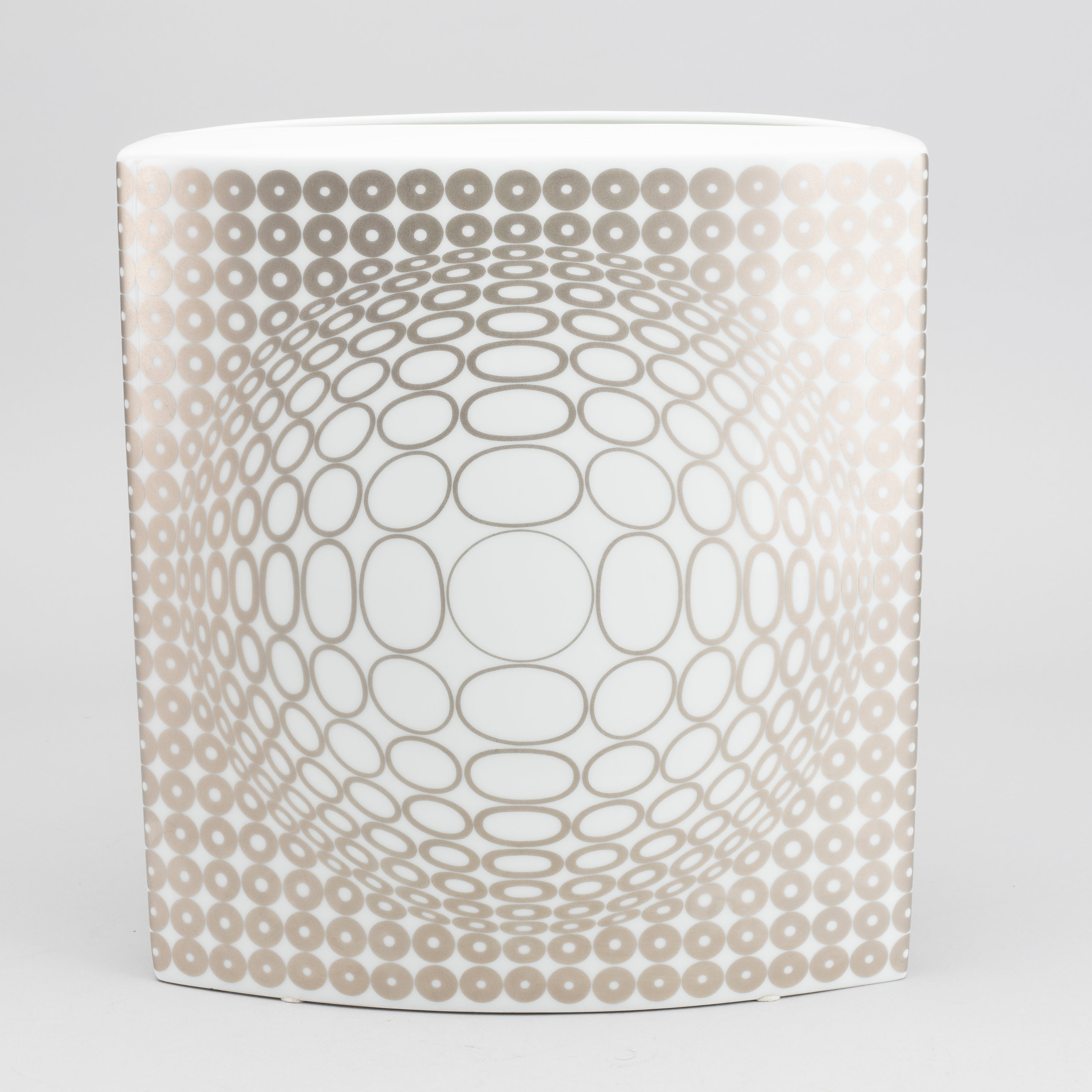 A VICTOR VASARELY PORCELAIN VASE BY ROSENTHAL, Limited