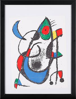 "JOAN MIRÓ, färglitografier, 3 st, ur ""Miró Lithographe"" I samt II, ej signerade."