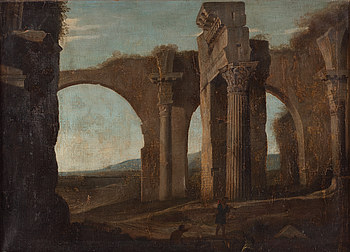 OKÄND KONSTNÄR, olja på duk, 1700-tal, Italien.