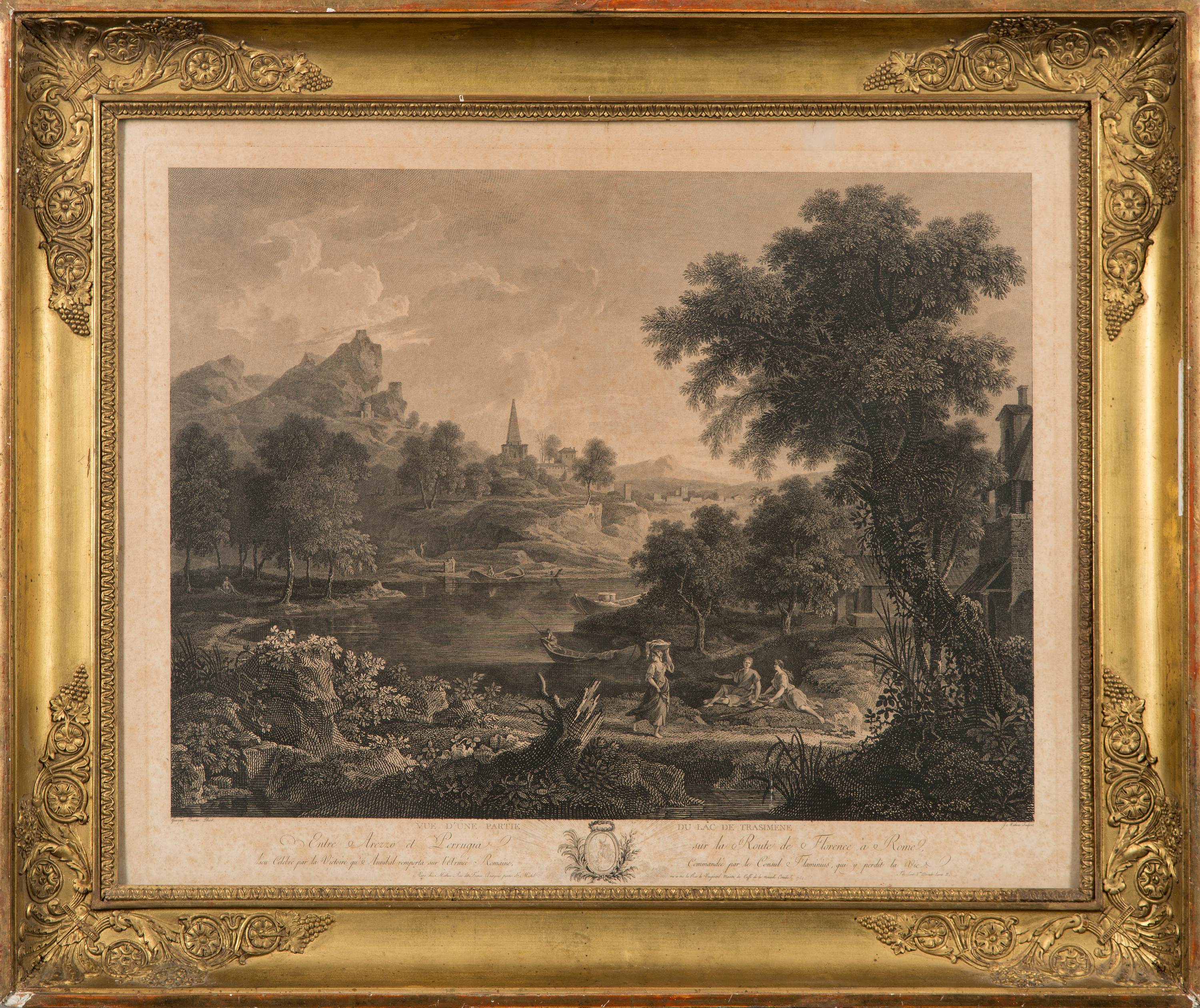 Poussin), after, copper engraving by Jean Mathieu, late 18th