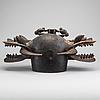 Senufo, kponiugo firespitter double helmet, ivory coast