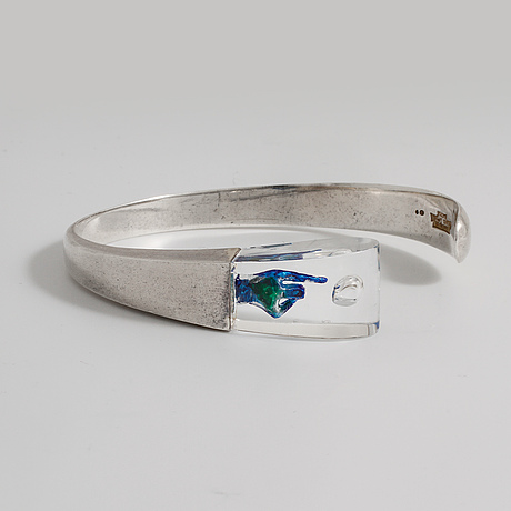 "BjÖrn weckstrÖm, a ""space silver"" bracelet made by lapponia in finland 1974"