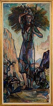 EINAR FORSETH, olja på duk signerad och daterad Delphi 1951.
