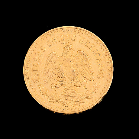 50 peso gold mexico coin, 1921 1928. weight ca 42 grams