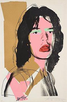 """200. Andy Warhol, """"Mick Jagger""""."""