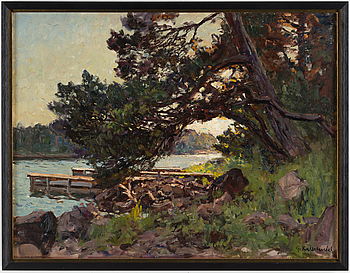 GOTTFRID KALLSTENIUS, GOTTFRID KALLSTENIUS, oil on canvas, signed.