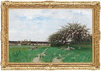 """4. CARL SKÅNBERG, """"Blommande fruktträd, Barbizon""""."""