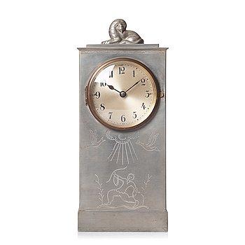 120. Nils Fougstedt, a pewter table clock, Svenskt Tenn, Sweden 1925.