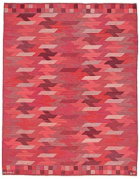 "211. Barbro Nilsson, A CARPET, ""Rödarp"", flat weave, ca 247 x 190,5 cm, signed AB MMF BN."