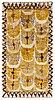 "Marianne richter, a carpet, ""fjädern, gul"", knotted pile, ca 180,5 x 91,5 cm, signed ab mmf mr."