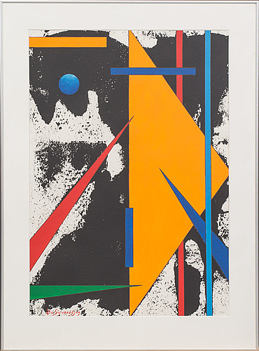Bo sigvardson, lithograph in colours signed and numbered.