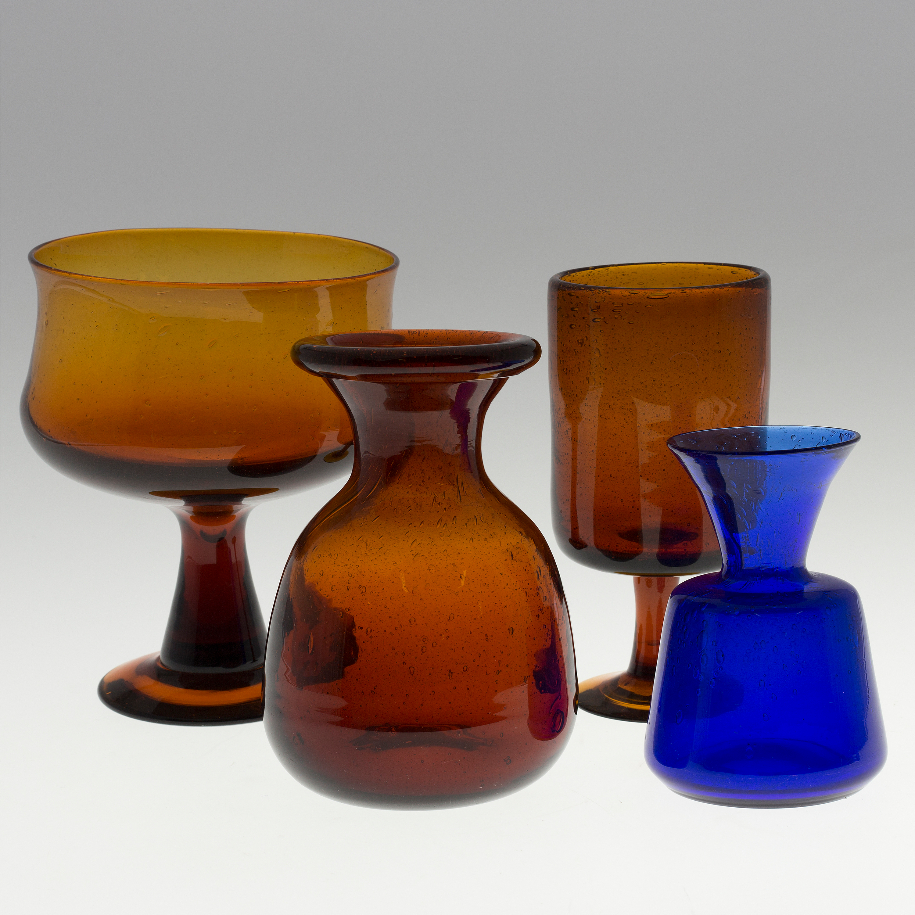 Erik hglund a set of three glass vases and a bowl by erik 10706252 bukobject reviewsmspy