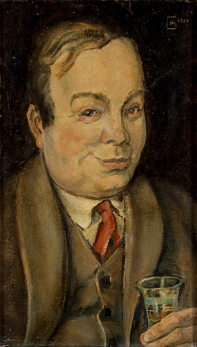 Hugo gehlin, oil on canvas, signed and dated 1924