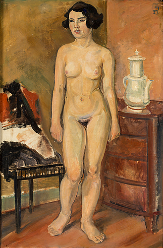 Hugo gehlin, oil on canvas, signed and dated  23
