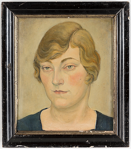 Hugo gehlin, oil on canvas, signed and dated 1918 verso