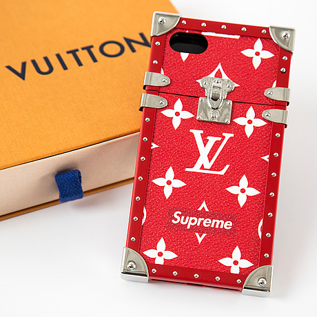 "Iphonefodral, ""supreme"", louis vuitton, 2017"