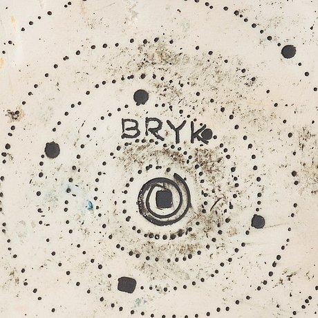 Rut bryk, a rut bryk stoneware sculpture/ vase, arabia, finland 1960's.