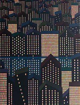 """KRISTIAN KROKFORS, """"CITY LIGHTS""""."""