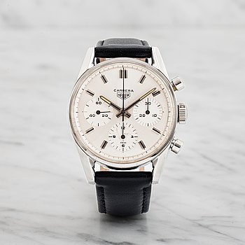 "2. HEUER, Carrera (T SWISS), ""Second Execution"", chronograph, wristwatch, 36 mm,"